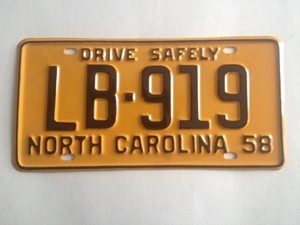 Picture of 1958 North Carolina Car #LB-919