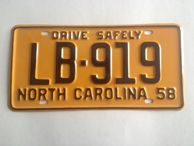 Picture of 1958 North Carolina Car #LB-919