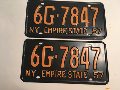 Picture of 1957 New York Pair #6G-7847