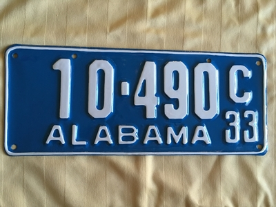 Picture of 1933 Alabama #10-490C