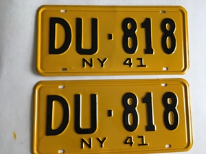 Picture of 1941 New York pair #DU-818
