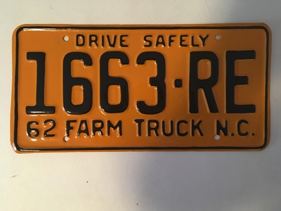 Picture of 1962 North Carolina Farm Truck #1663-RE