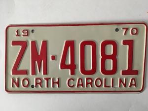Picture of 1970 North Carolina Car #ZM-4071