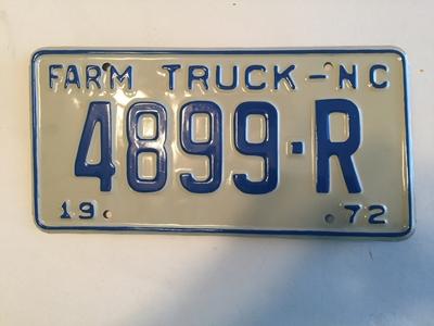 Picture of 1972 North Carolina Farm Truck #4899-R