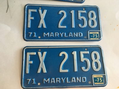 Picture of 1971 Maryland Pair #FX-2158