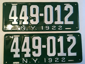 Picture of 1922 New York Pair #449-012