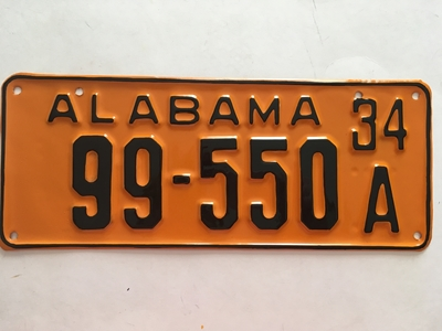 Picture of 1934 Alabama #99-550A