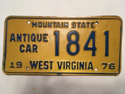 Picture of 1976 West Virginia Antique Car #1841
