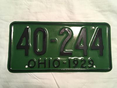 Picture of 1929 Ohio #40-244