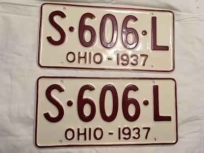 Picture of 1937 Ohio Pair #S-606-L