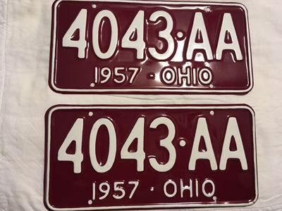 Picture of 1957 Ohio Pair #4043-AA