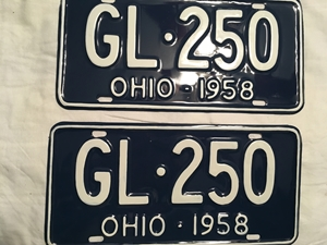 Picture of 1958 Ohio Pair #GL-250