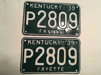 Picture of 1939 Kentucky Pair #P2809
