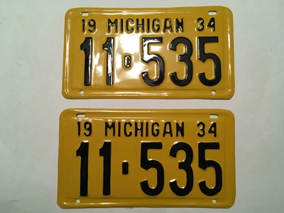 Picture of 1934 Michigan Pair  #11-535