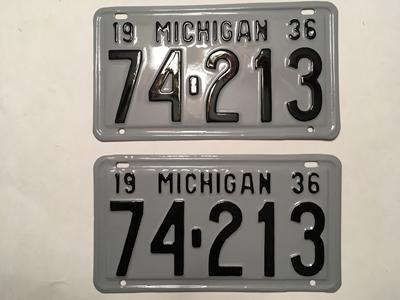 Picture of 1936 Michigan Pair #74-213