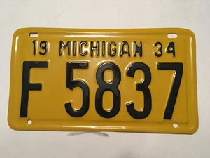 Picture of 1934 Michigan #F5837