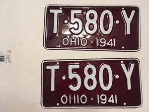 Picture of 1941 Ohio Pair #T-580-Y