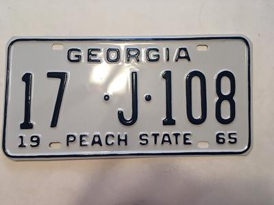 Picture of 1965 Georgia #17-J-108