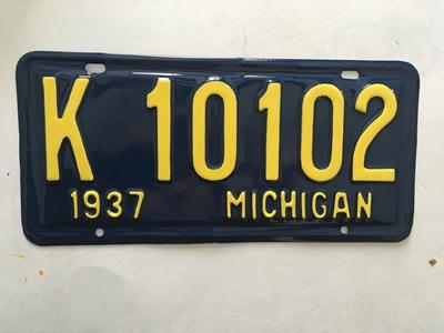 Picture of 1937 Michigan Pair #10102