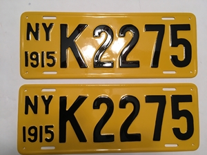 Picture of 1915 New York Pair  #K2275