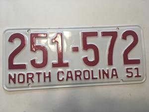 Picture of 1951 North Carolina Car #251=572