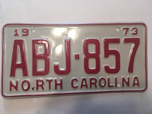 Picture of 1973 North Carolina Car #ABJ-857