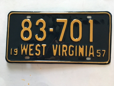 Picture of 1957 West Virginia #83-701