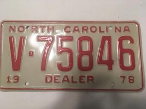 Picture of 1978 North Carolina Dealer #V75846