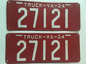 Picture of 1924 Virginia Truck Pair #27121