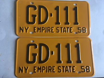 Picture of 1958 New York Pair #GD-111
