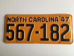 Picture of 1947 North Carolina Car #567-182