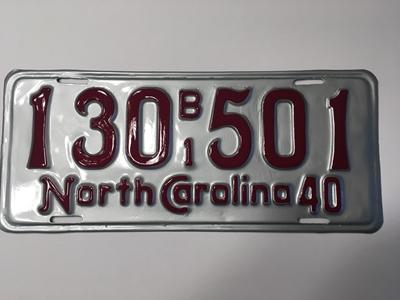 Picture of 1940 North Carolina Truck #130 B/1 501