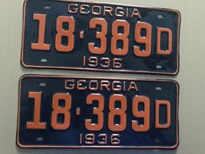 Picture of 1936 Georgia Pair #18-389D