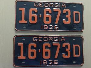Picture of 1936 Georgia Pair #16-683D
