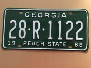 Picture of 1968 Georgia #28-R-1122