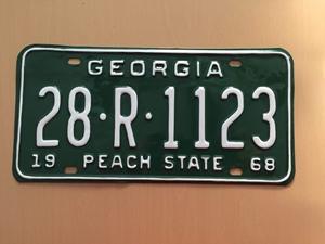 Picture of 1968 Georgia #28-R-1123