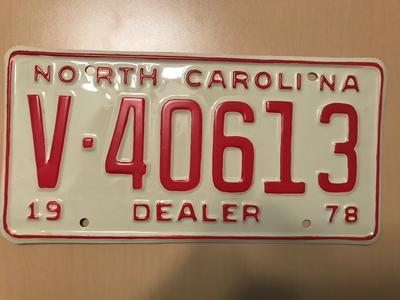 Picture of 1978 North Carolina Dealer #V40613