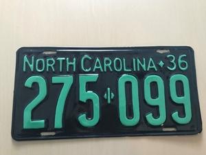 Picture of 1936 North Carolina #275-099