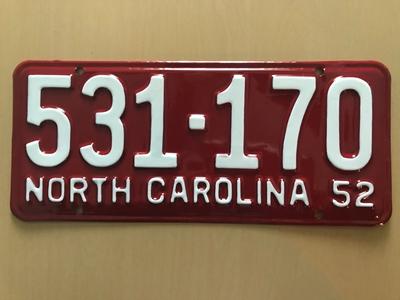 Picture of 1952 North Carolina #531-170