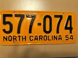Picture of 1954 North Carolina #577-074