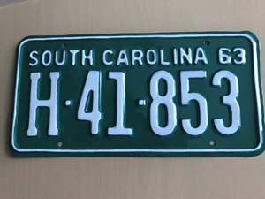 Picture of 1963 South Carolina Truck #H-41-853