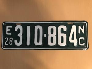 Picture of 1928 North Carolina Car #E310-364