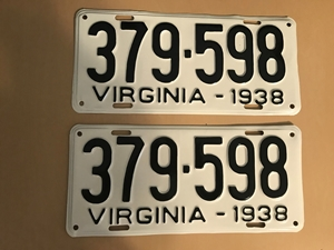Picture of 1938 Virginia Car Pair #379-598