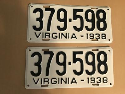 Picture of 1938 Virginia Car Pair #379-598