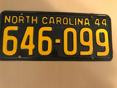 Picture of 1944 North Carolina Car #646-099