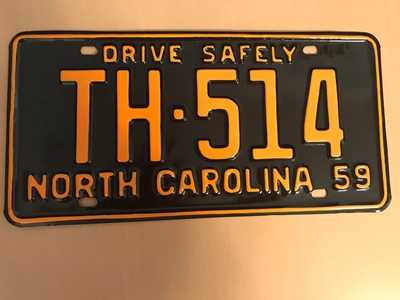 Picture of 1959 North Carolina Car #TH-514