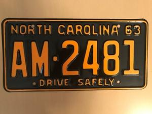 Picture of 1963 North Carolina Car #AM-2481