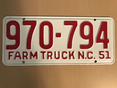 Picture of 1951 North Carolina Farm Truck #970-794