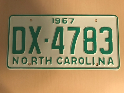 Picture of 1967 North Carolina Car #DX-4783