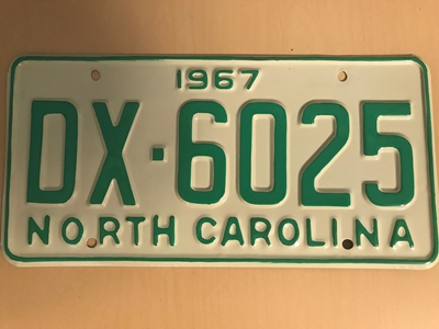 Picture of 1967 North Carolina Car #DX-6025